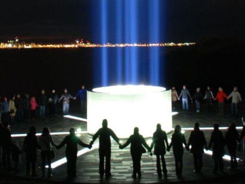 Visite de la tour de la paix Imagine de Reykjavík