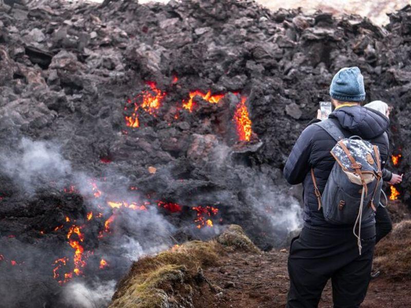 Randonnée d'une journée au volcan actif Fagradalsfjall au départ de Reykjavik