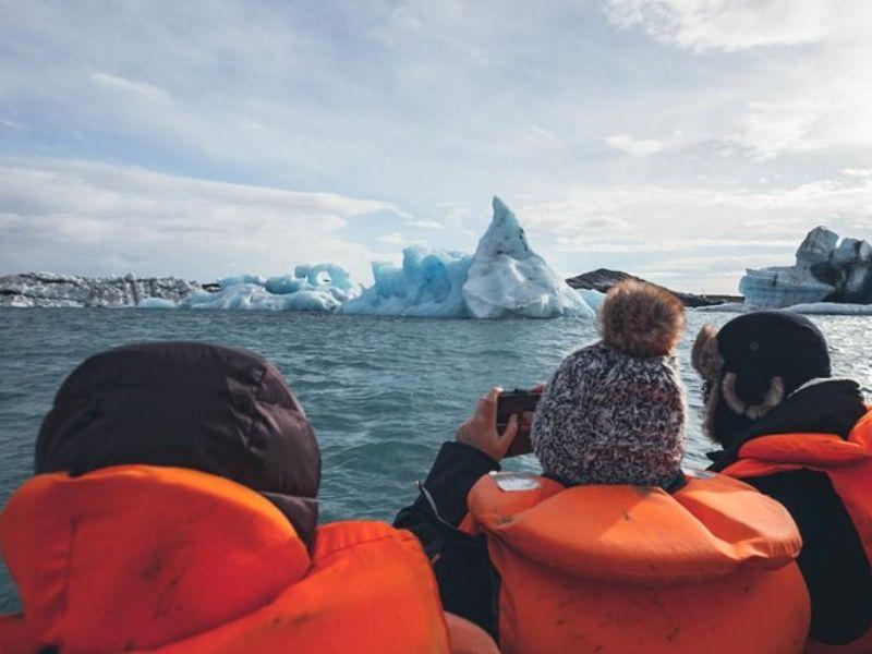 Excursion d'une journée sur la côte sud et à la lagune du glacier de Jökulsárlón au départ de Reykjavik